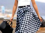 Vichy Midi Skirt