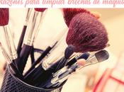 Razones para limpiar brochas maquillaje