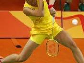 Carolina Marín pasea estreno Juegos