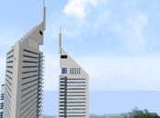 Réplica Minecraft Emirates Towers (Dubai) Emiratos Árabes Unidos