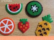 DIY: imanes fruta Pyssla.