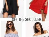 Shein promotion: shoulder long dresses