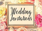 Wedding Invitation Swirly Flourish Design.
