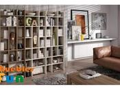 Estanterías librerías salón: funcionales decorativas