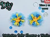 Diy. Distintivo Baby Shower Moño... Mirna manus
