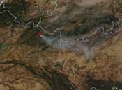Incendio forestal Extremadura (Jerte): Imagen satélite 19.08.2016