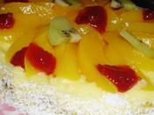 Tarta Frutas frescas coco fácil rápida