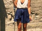 Falda pareo blusa
