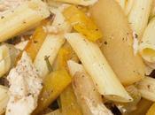 Pasta pollo, calabaza pera módena albahaca gluten