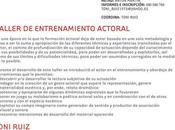 Taller Entrenamiento Actoral cargo Toni Ruiz (Argentina)