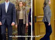 Príncipes conceden varias audiencias Zarzuela. look Dña. Letizia