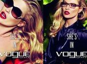 Kate Moss, imagen Vogue Eyewear, Primavera/Verano 2011. Behind scenes
