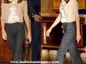 Princesa Letizia, lentejuelas zapatos atar, mañana audiencias Zarzuela