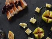 Secreto cerdo acompañado higos queso gorgozola miel #MotinAsaltablogs