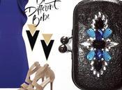 clutch joya azul negro para vestido azulon