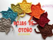 Cómo hacer hojas Otoño crochet...