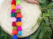 diy: bolso estilo boho pompones colores