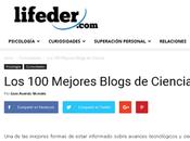Entre mejores Blogs ciencia segun Lifeder