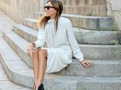 vestido blanco lazada capa