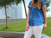 Pantalones blancos también para otoño
