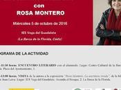 octubre recibimos Rosa Montero