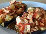 Berenjenas rellenas tofu tomate