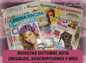 Revistas Octubre 2016 (Regalos, Suscripciones viene)