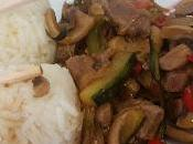 Salteado cerdo verduras