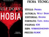 Reseña: Phobia, Wulf Dorn
