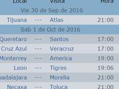 Calendario jornada futbol mexicano apertura 2016
