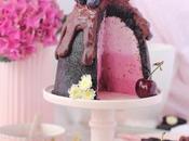 Cheesecake oreo frutos rojos cómo conseguir relleno efecto degradado)