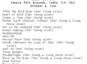 NEIL YOUNG Desert Trip (Setlist Videos)