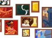 Google celebra navidad mosaico
