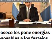 Rioseco pone energías renovables festejos