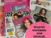 Revistas Noviembre 2016 (Regalos, Suscripciones viene)