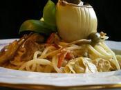 Espaguetis setas alcachofas #homenajeaMeritxellretocdm