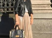 Outfit falda midi zara adidas gazelle