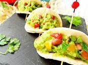 Mini wraps guacamole fríjoles