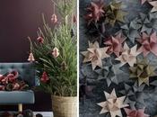Navidad sencilla adornos papel toque color inesperado)