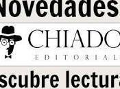Novedades Chiado Editorial Noviembre 2016