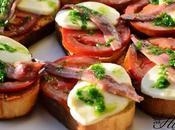 Tostada mozzarella tomate