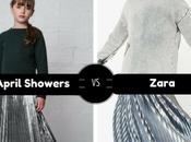 Clones moda infantil: Falda para niña midi plisada brillante