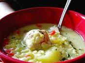 Sopa pollo Griega