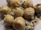 Gnocchi rellenos queso manchego