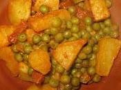 Guisantes patata chorizo