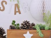 Estrellas, blanco madera