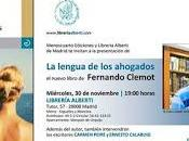 """Presentación lengua ahogados"""" Fernando Clemot"""