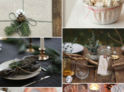 Inspiración para mesa Navidad rústica elementos naturales Mood board. rustic natural Christmas table setting