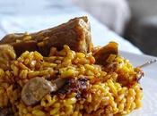 Arroz costillas champiñones