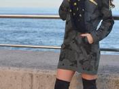 Vestido sudadera camuflaje